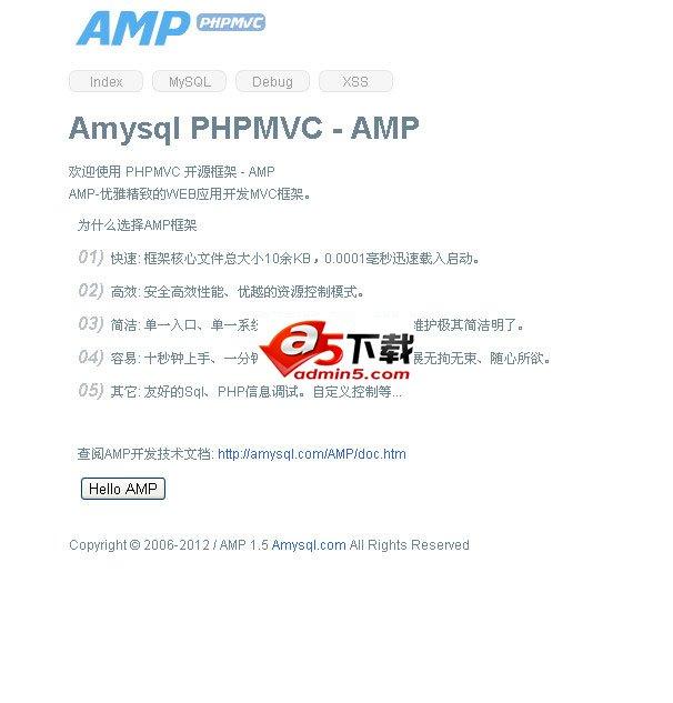 Amysql PHP (AMP)