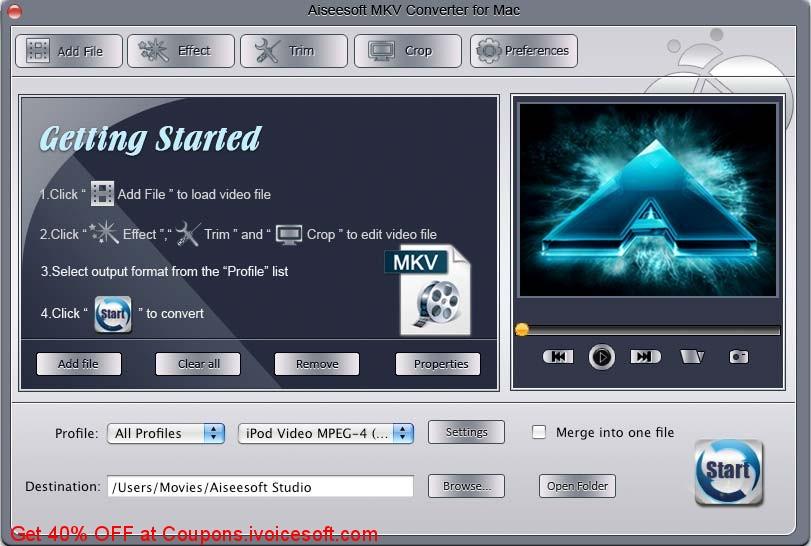 Aiseesoft MKV Converter for Mac