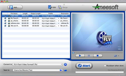 Aneesoft PSP Video Converter for Mac