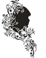 矢量时尚女性花纹素材52