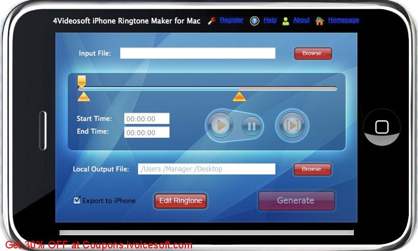 4Videosoft iPhone Ringtone Maker for Mac 6.0.10