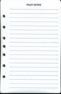 Notes Pilot