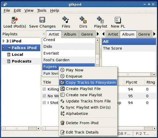Copy Selected Tracks For Linux