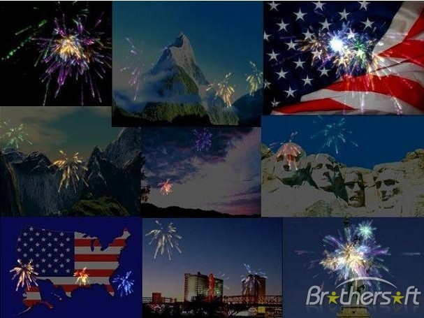 3D Fireworks Extravaganza