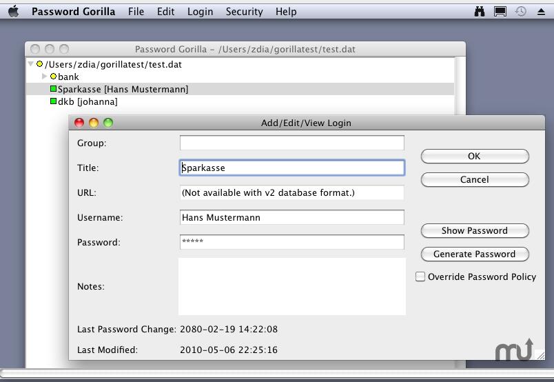 Password Gorilla For Mac
