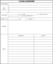 企业冠省名申请登记表