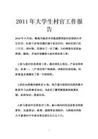 """2010年""""村官""""工作总结"""