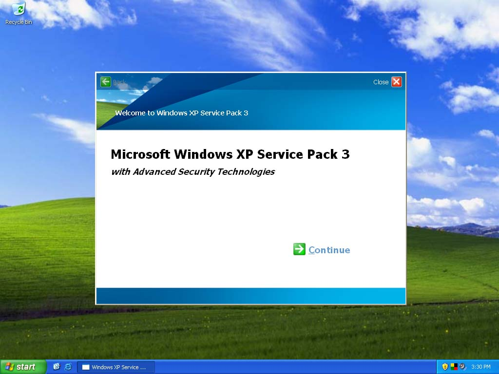 Windows XP Service Pack 3 (SP3)