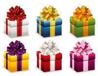 节日礼物包装工...