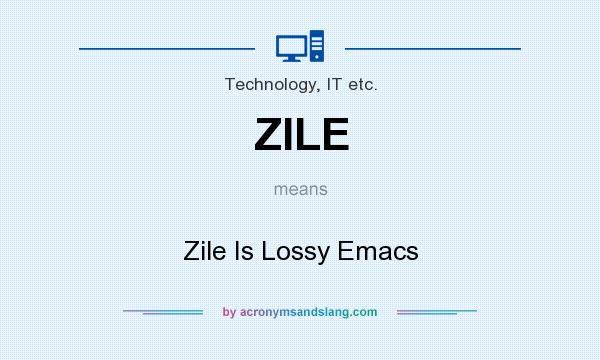 Zile is Lossy Emacs