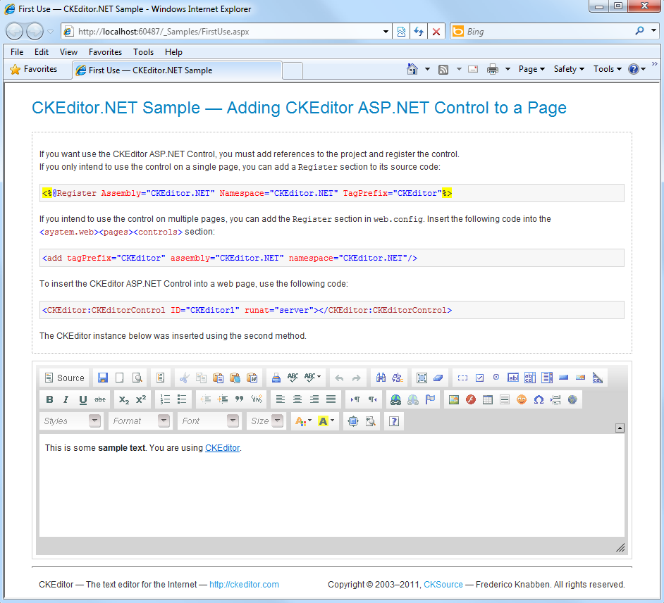 CKeditor for ASP.NET 3.6.4