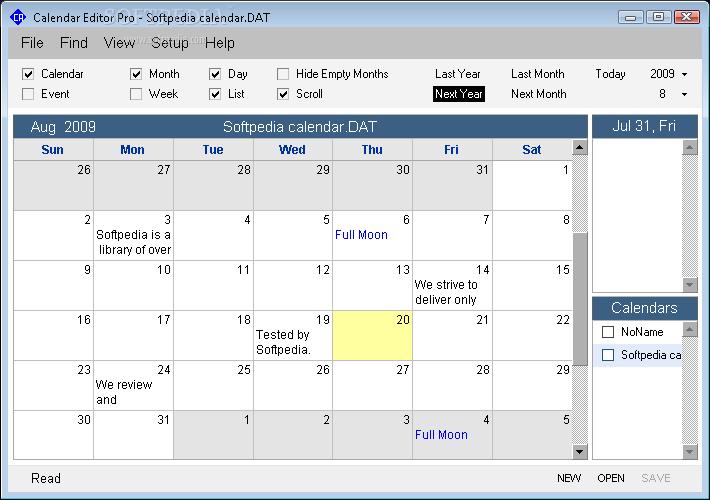 Calendar Program Pro