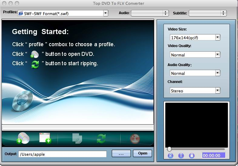 TOP DVD to FLV Converter for Mac