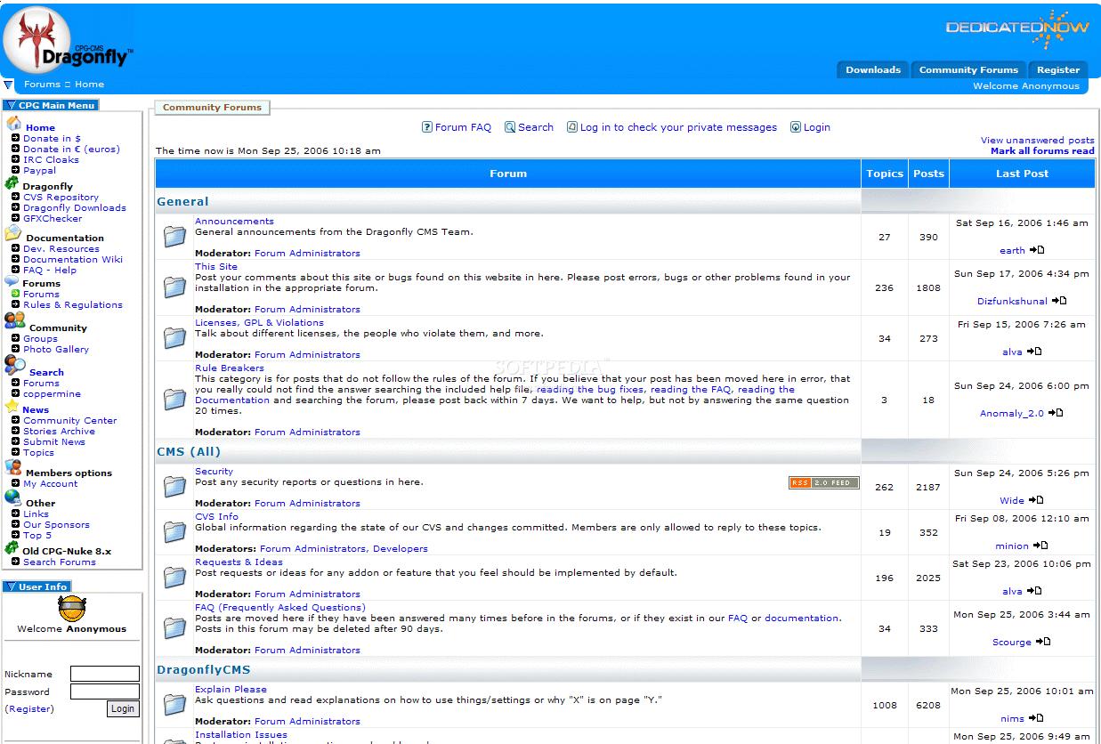 Dragonfly CMS 9.1.2.1