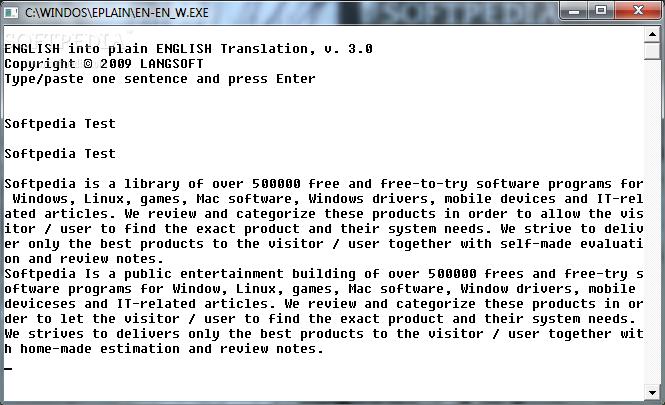 English into plain English Machine Translation