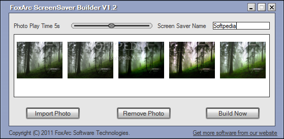 FoxArc Screen Saver Builder