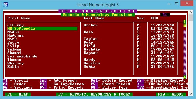 Head Numerologist