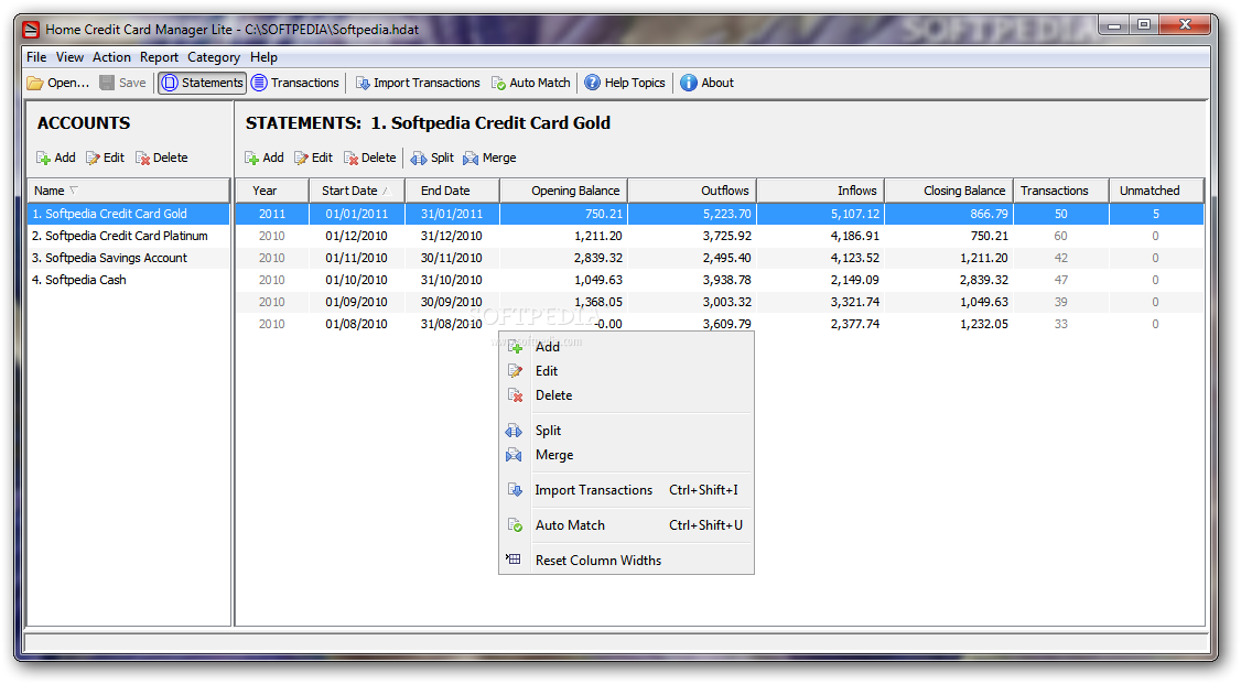 Home Credit Card Manager Lite