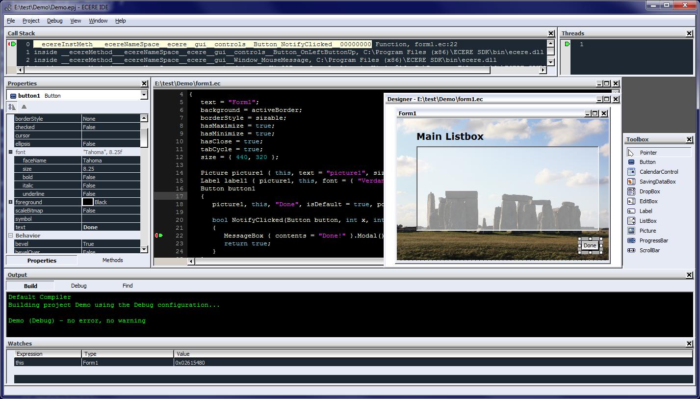Ecere SDK for Windows
