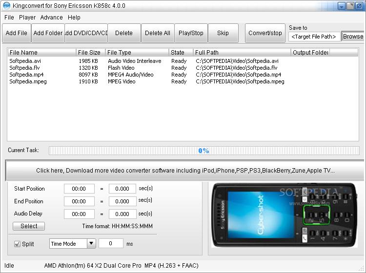 Kingconvert for Sony Ericsson k858c