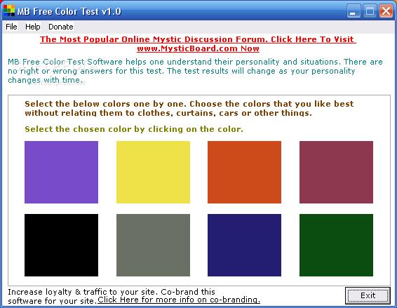 MB Free Color Test