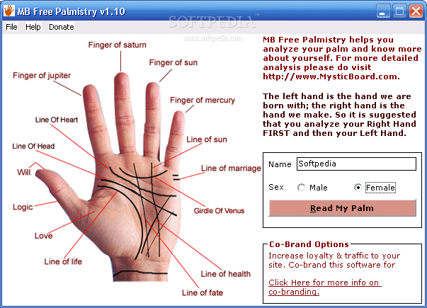 MB Free Palmistry