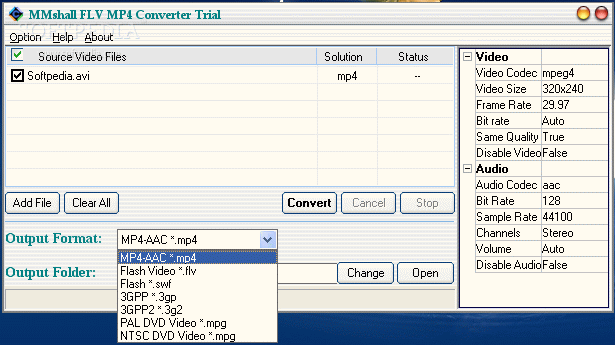 MMshall FLV MP4 Video Converter