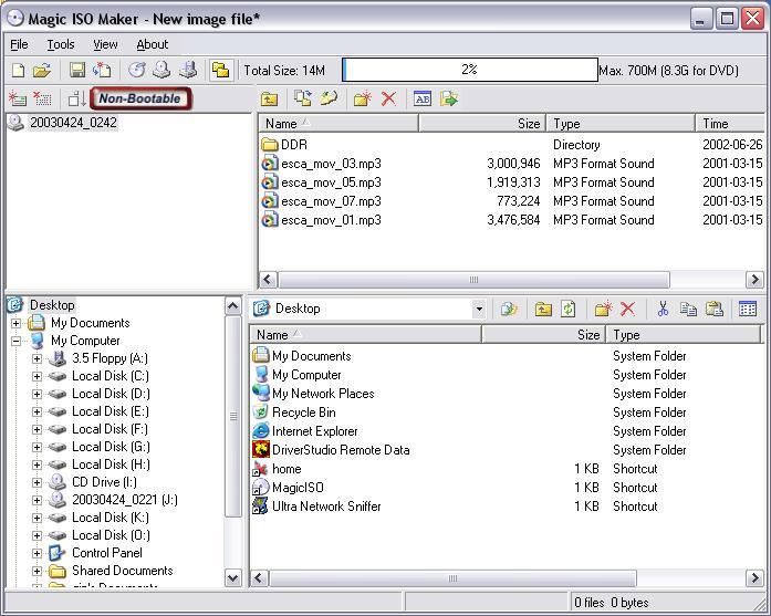 程序可以帮助你快速的创建,编辑,释放iso光盘镜像文件,可以帮助你将图片