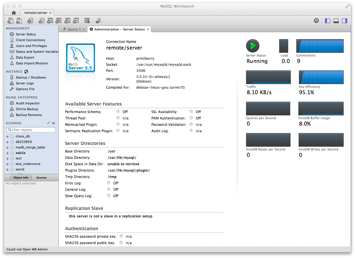 MySQL Workbench For Mac