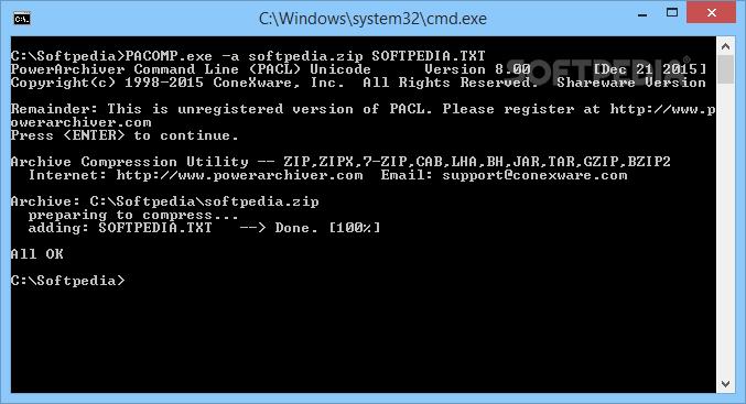 PowerArchiver Command Line