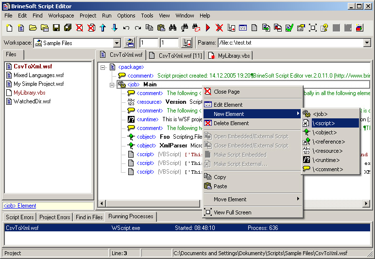 BrineSoftScript Editor
