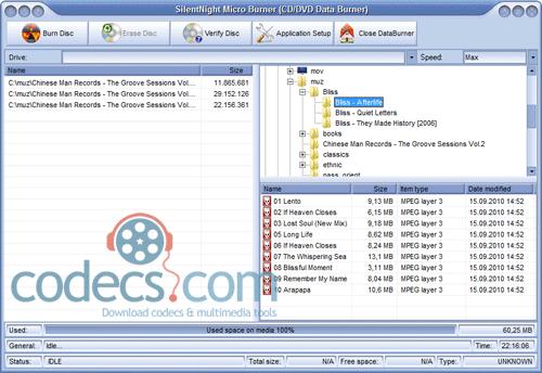 SilentNight Micro CD/DVD/ISO/Audio Burner