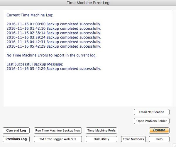 TM Error Logger 3.2