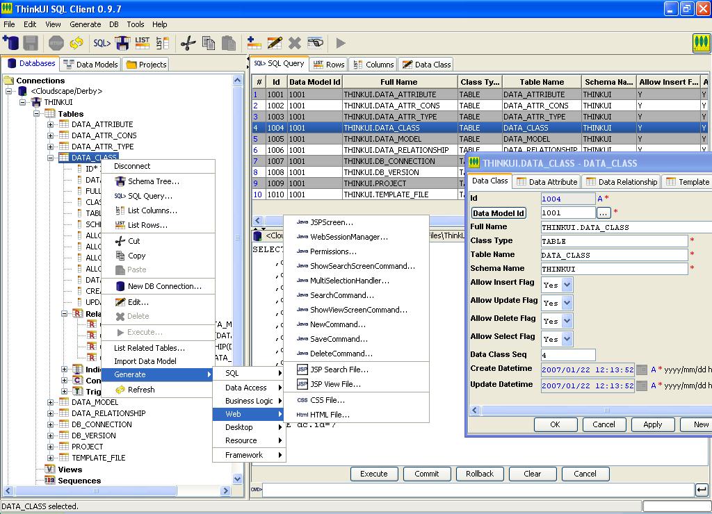 ThinkUI SQL Client