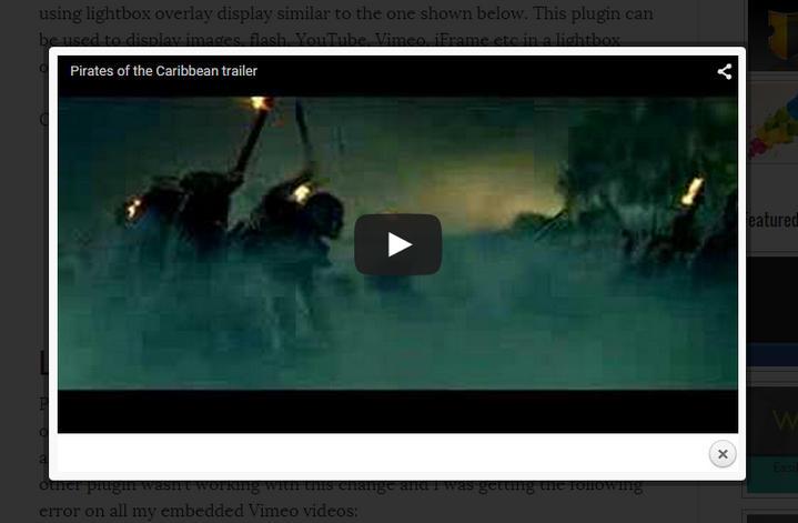 Video LightBox 2.1