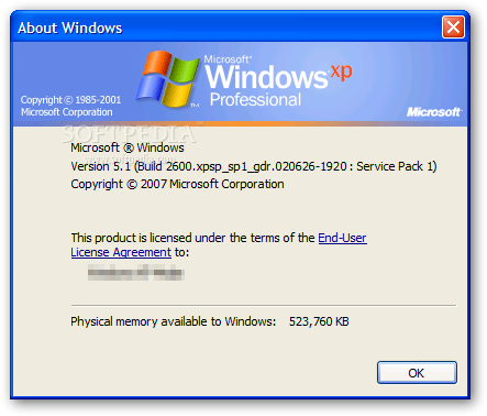 Windows XP Service Pack 1a 1.00 官方版