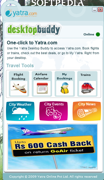 Yatra Desktop Buddy