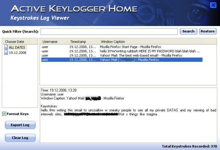 Active Key Logger
