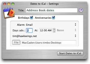Add Custom Date to iCal