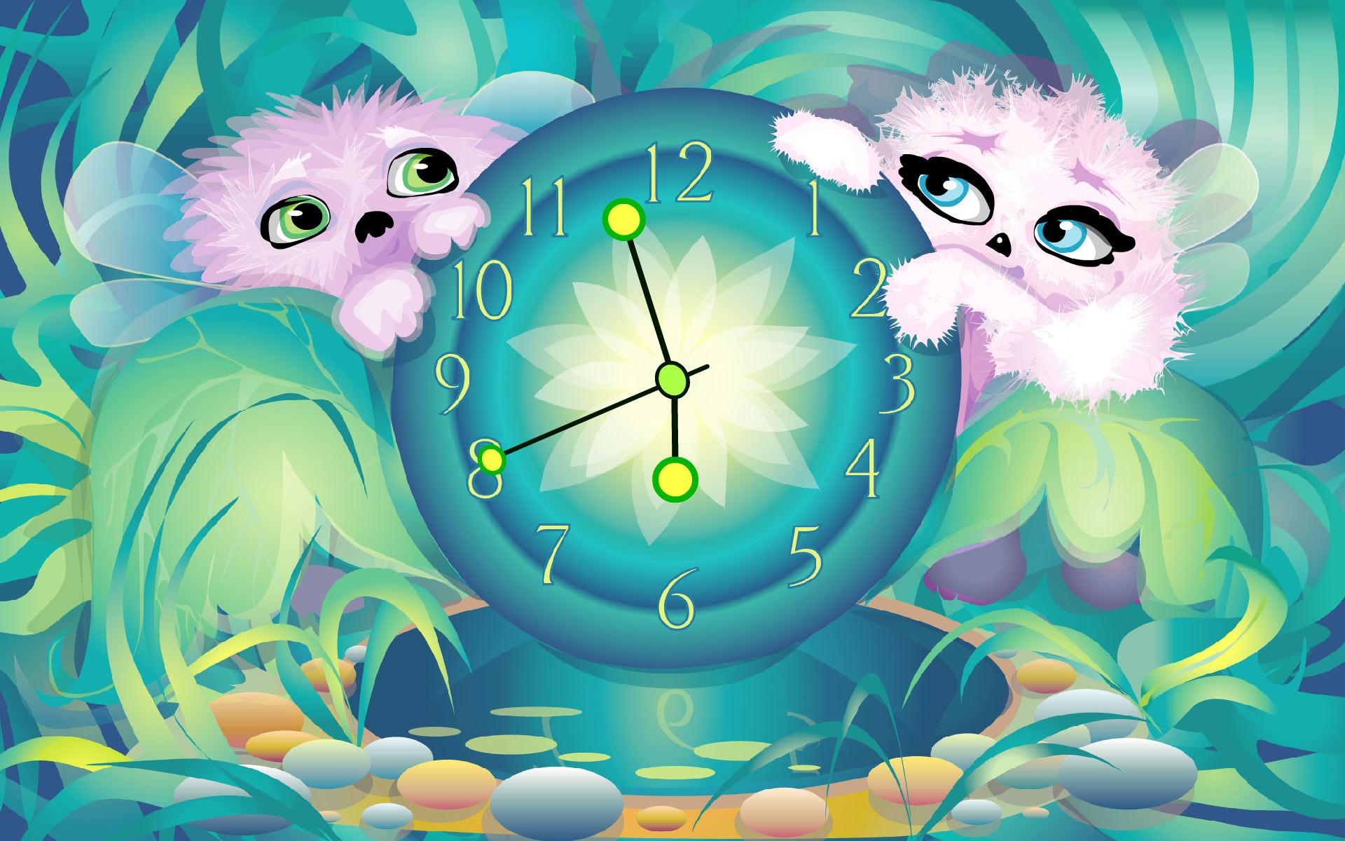 Alien Pets Clock ScreenSaver