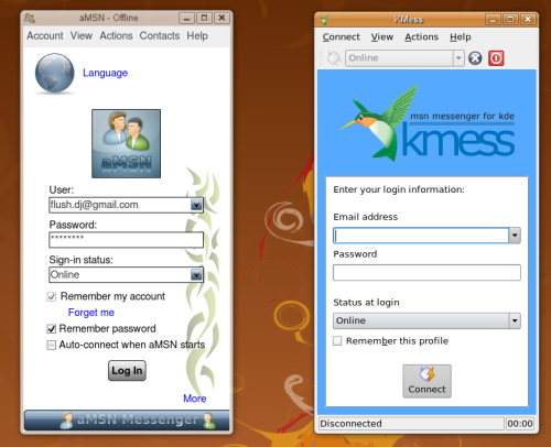 aMSN For Linux