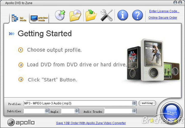 Apollo DVD to Zune