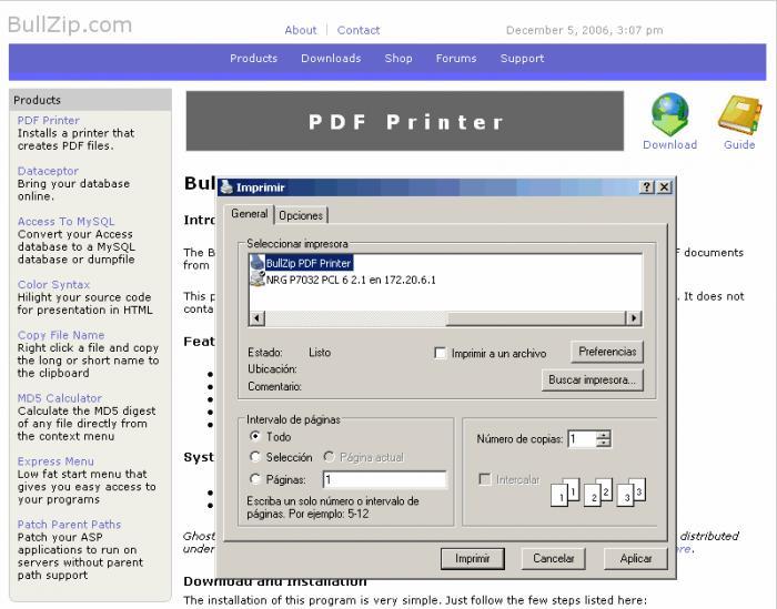 BullZip PDF Printer