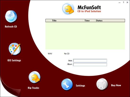 McFunSoft CD To iPod Solution