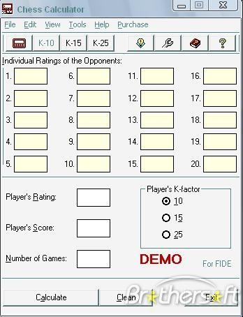 Chess Calculator for FIDE