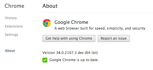 Chrome Dev Channel(64 bit)