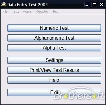 Data Entry Test 2004