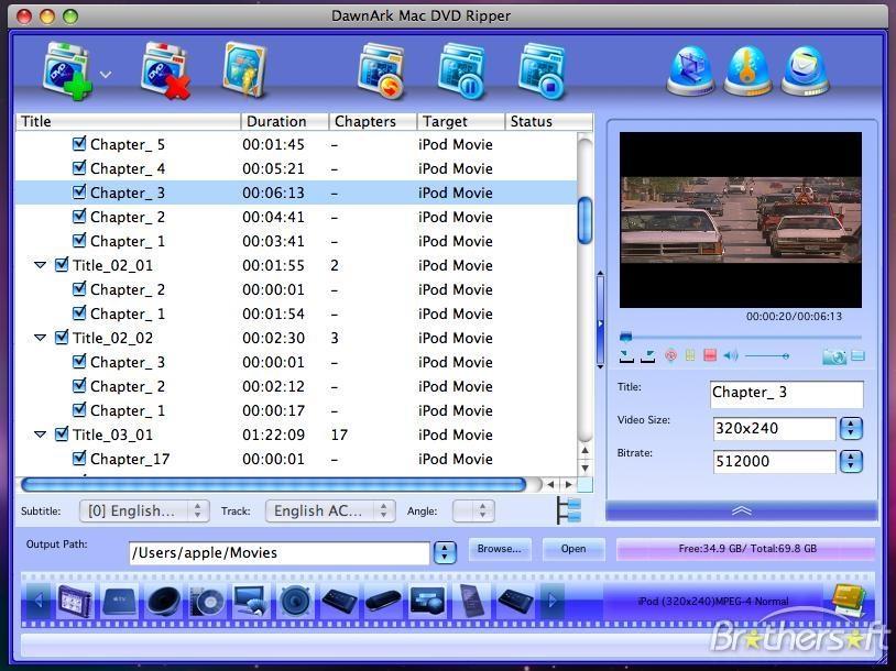 DawnArk Mac DVD Ripper