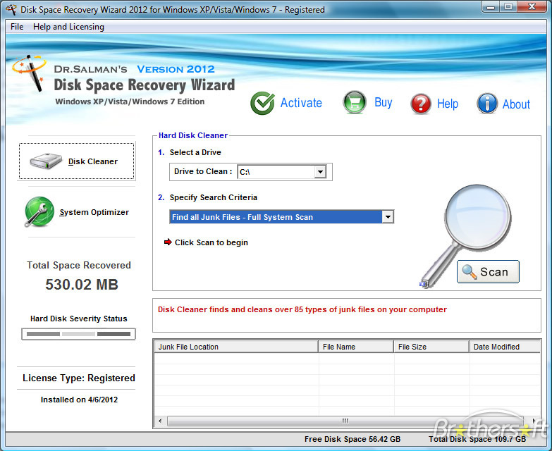 Disk Space Recovery Wizard