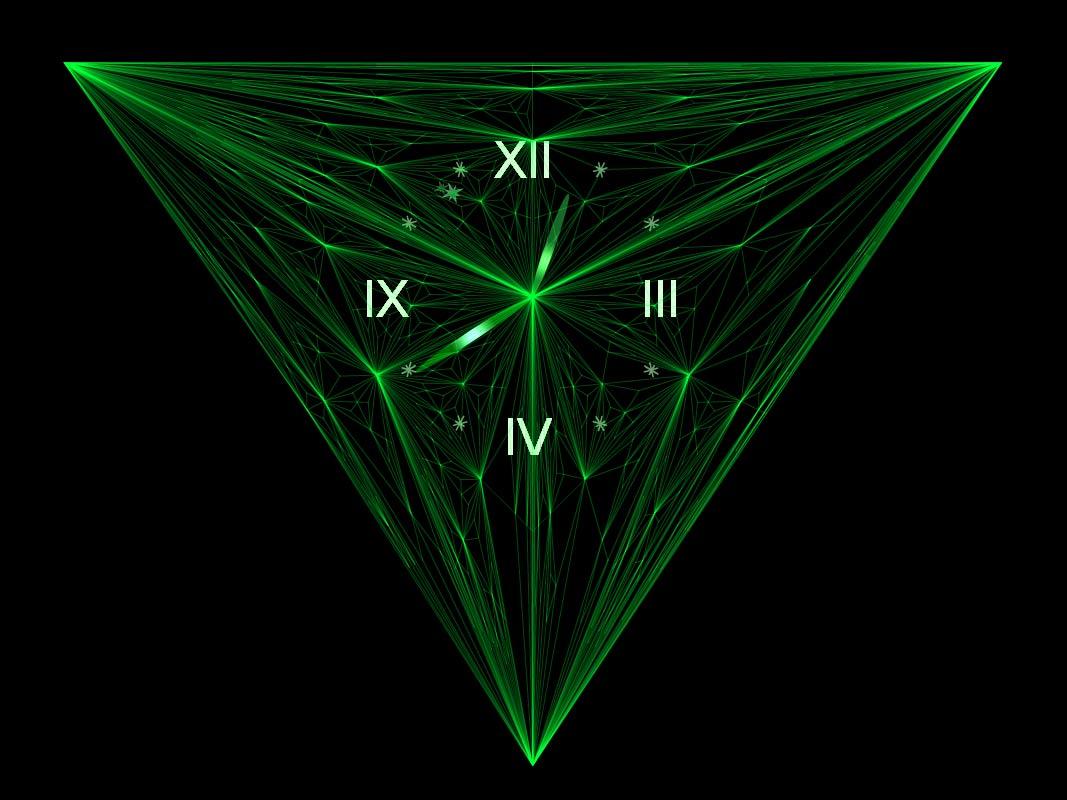 Emerald Clock screensaver